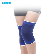Sumifun Elastic Bandage Blue Knee Braces Knee Support Brace Foot Arthritis Injury Sleeve Elbow Pads Knee Pads Massage Care Z740 one pair 3 colors breathable thin section nylon knee brace knee pad prevent sleeve arthritis injury leggings elbow sleeve