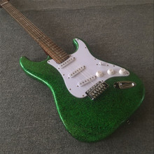Electric guitar factory product Metal green water ripple, wholesale and retail, all colors can be real  photos