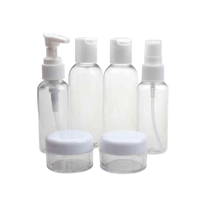 6pcs/set Plastic New Portable Transparent Travel Cosmetic Bottle Points Bottling Spray Mask Bottle AU21