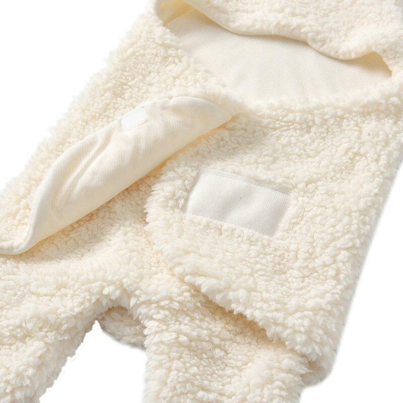 Inverno bebê recém-nascido swaddle envoltório algodão quente