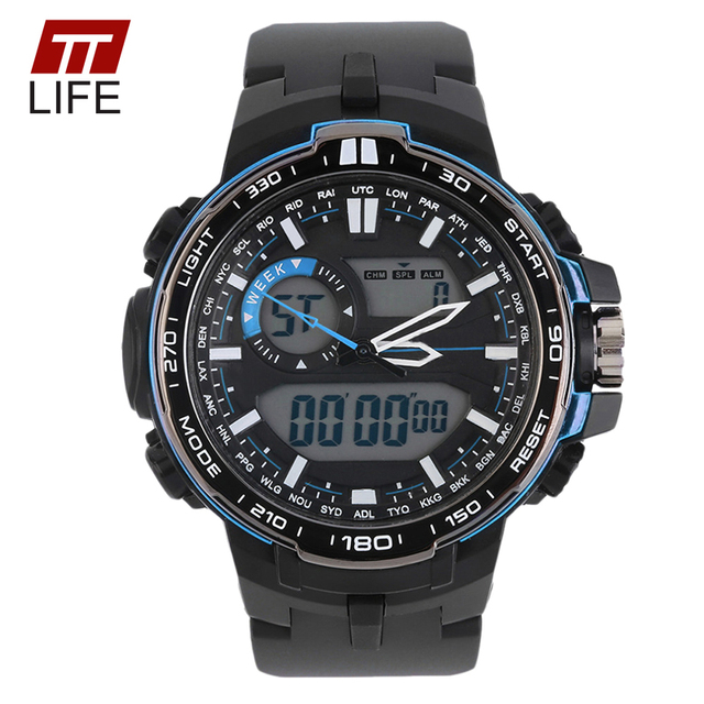 TTLIFE Brand Casual Watch Men Waterproof Sports Military Watches Men's Luxury Analog LED Backlight Digital Mens Watches Alarm