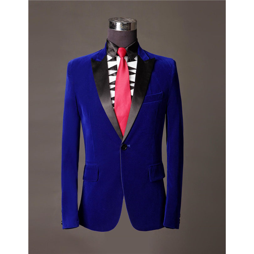 Popular Blue Velvet Blazer-Buy Cheap Blue Velvet Blazer lots from ...