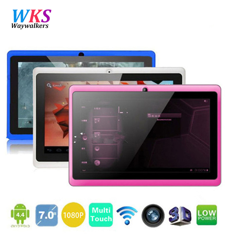 7 inch Quad core Q88 1.5GHz android 4.4 tablet pc Q8 allwinner A33 ROM 8GB Capacitive Screen 1024x600 Dual camera WIFI