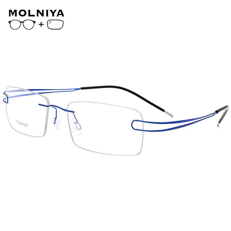 2019 de titanio gafas de montura gafas de las mujeres de los hombres de negocios de moda de titanio gafas accesorios para hombres
