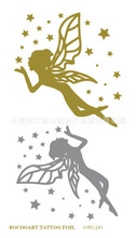 Harajuku Waterproof Gold And Silver Metallic Tattoo The Stars Angel Goddess Designs Flash Tattoo Temporary Stickers VH0241