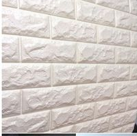 70x77cm PE Foam Red 3D Wall Paper Safty Home Decor Wallpaper DIY Wallpaper Brick Living Room