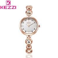 KEZZI KW 1489 Brand Fashion Women Gold Luxury Bracelet Wristwatch Ladies Famous Quartz Watch Relogio Feminino