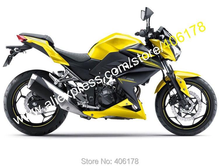 Горячие продаж,для Kawasaki Z250 Z300 2015/2016 обтекатель 15/16 З 250 З 300 желтый черный спортивный мотоцикл кузова Обтекатели (литье под давлением)