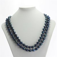 SNH A 11 12mm peacock green natural freshwater long black pearl necklace genuine rice pearl jewelry free shipping