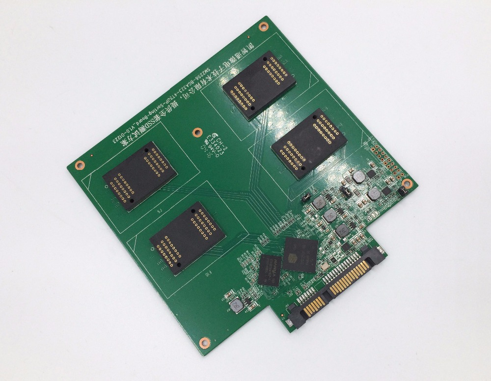 Solução de teste do controlador do flash sm2256k de nand ssd para bga152 132 100 88 lga60 tsop48 96 memória flash 4 em 1 placa múltipla do pwb