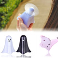 Character Spirit Mini Fan with Nightlight Flash Light Portable Safe USB Charging Electric Fan Handy Fan Home Decoration