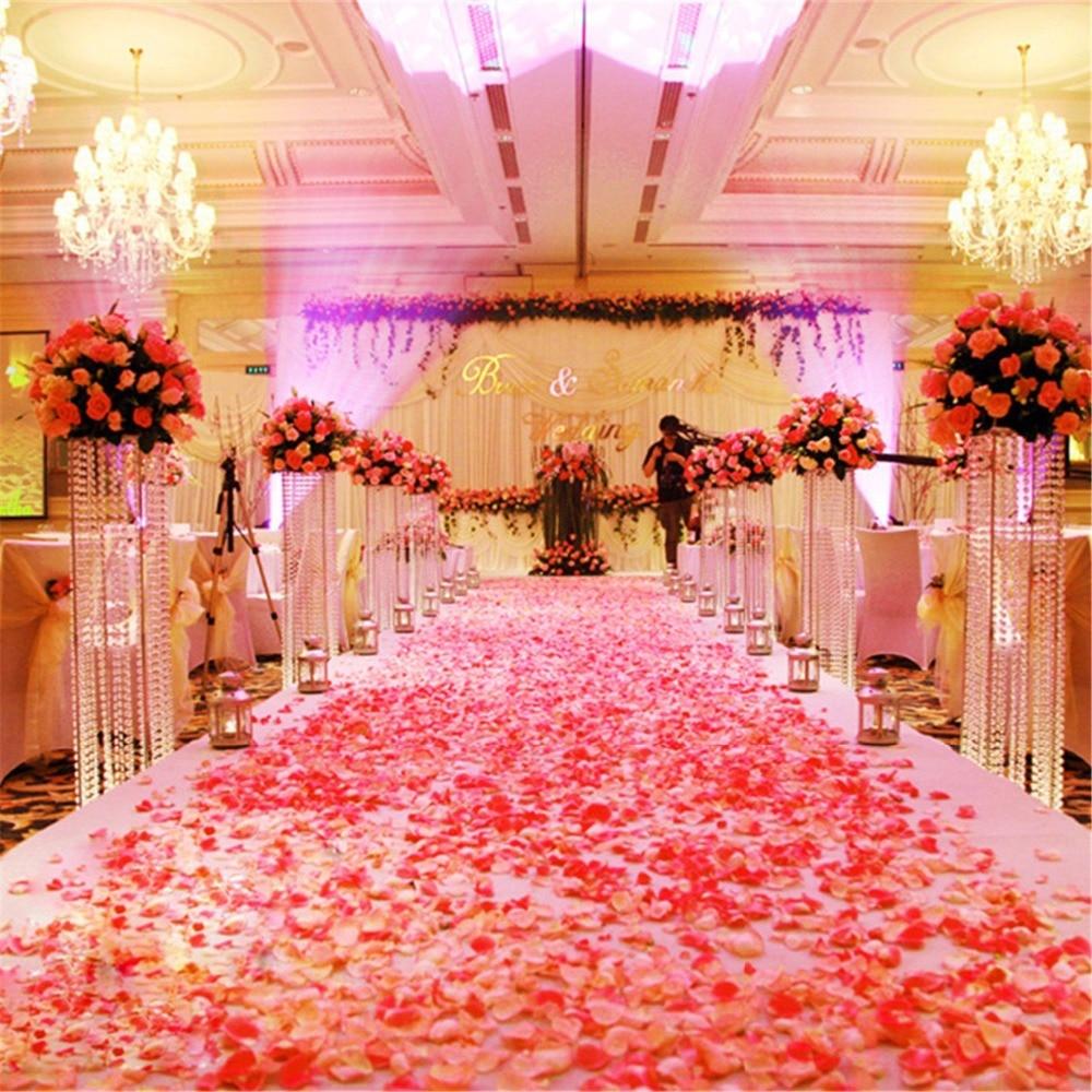 2000pcs Silk Rose Petals For Wedding Decoration Romantic