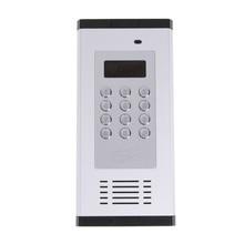 GSM ระบบควบคุมระยะไกล Apartment Intercom ประตูเปิดโดยโทรฟรีหน้าจอ LCD ปุ่มกดรองรับ 1000 ให้คะแนน