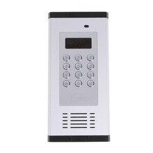 GSM 원격 액세스 제어 시스템 아파트 인터콤 도어 게이트 무료 통화 LCD 화면 키패드는 1000 사용자를 지원합니다