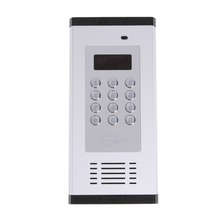 GSM Remote Access Control System Apartment Intercom Door Gate Open by Free Call LCD Screen Keypad supports 1000 users
