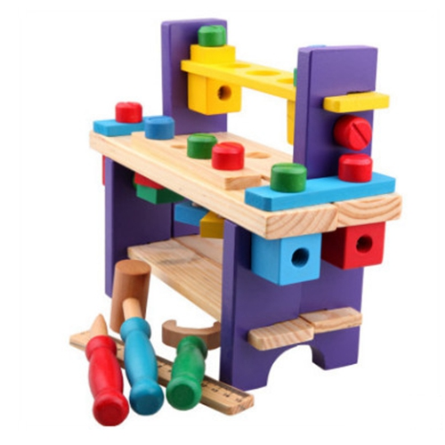 Montessori Pretend Play Toys for Children Multifunctional Tool Maintenance Box Kids Role Play Classic wooden Educational toys in Math Toys from Toys Hobbies