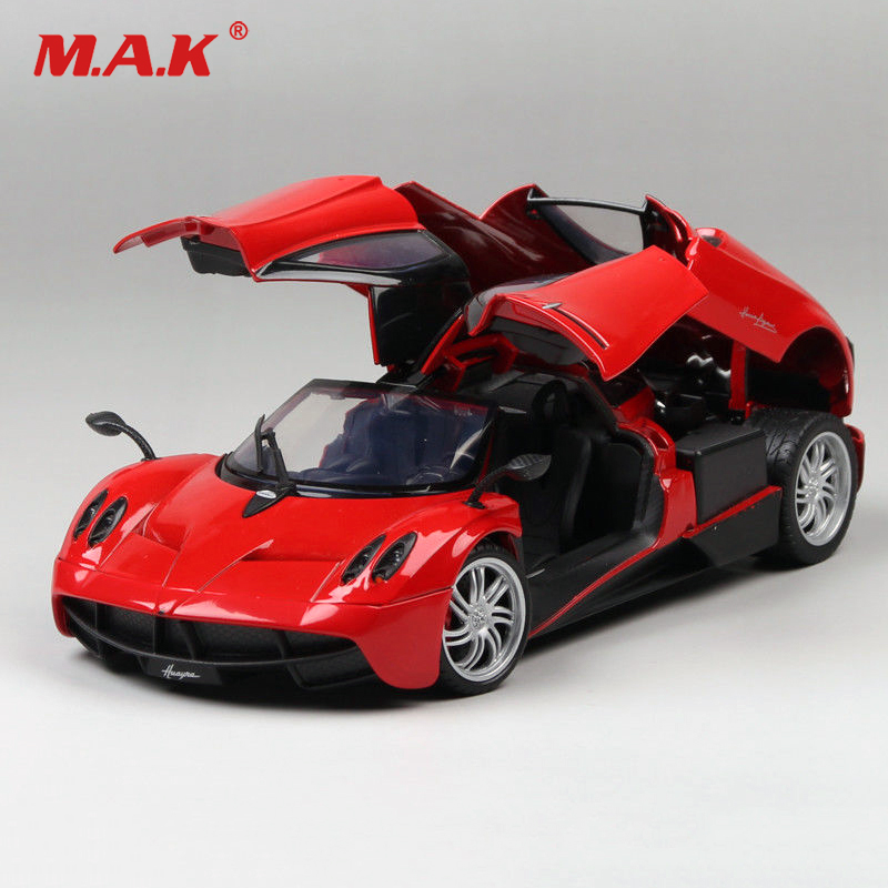 цена на Kids toys Diecast car 1:18 Scale 1/18 Alloy 1/18 Scale Pagani Diecast Red Color Racing Car Model Toys Collection Gift