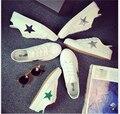 2017 de la moda transpirable zapatos casuales las mujeres zapatos de lona blancos de primavera y verano zapatos de un solo