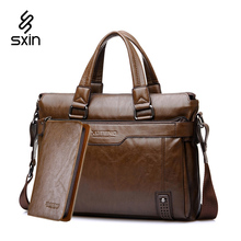 Vintage Leather Handbags Leather Briefcase for Men Laptop Briefcase Shoulder Bags Casual Crossbody Bags MaletinD018-4