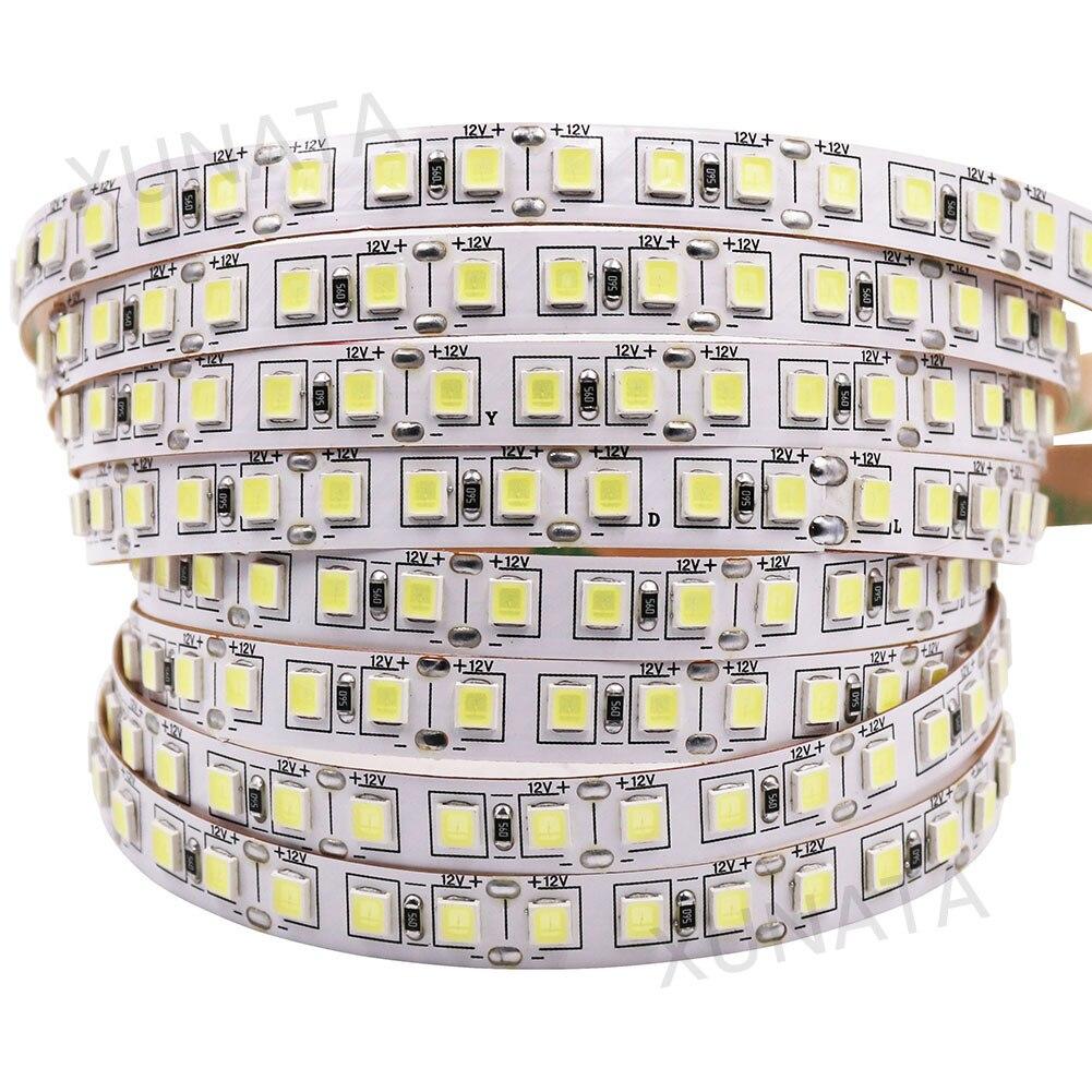 SMD 5050 5054 4040 5630 Светодиодная лента 120 светодиодов/м 5 м супер яркая не Водонепроницаемая IP20 гибкая светодиодная лента 12 в холодный теплый белый...
