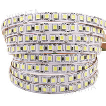 SMD 5050 5054 4040 5630 LED Strip 120LEDs/m 5m Super bright Non Waterproof IP20 Flexibe LED strip light 12V Cold Warm white(China)