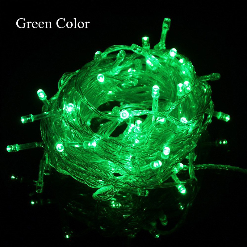 110V/220V Led String Christmas Lighting 10m/100leds Red/Green/Blue/White/Warm White/RGB/Pink/Purple
