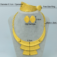 Big / African Gold Jewelry Sets 24k Yellow Gold Plated Wedding Bridal Jewelry Set for Nigeria/Ethiopian/Congo/Sudan Item #001815