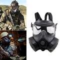 M50 juego táctico de doble máscara fan antivaho escudo tatico DC15 campo CS cara del cráneo Paintball Airsoft ejército equipo militar