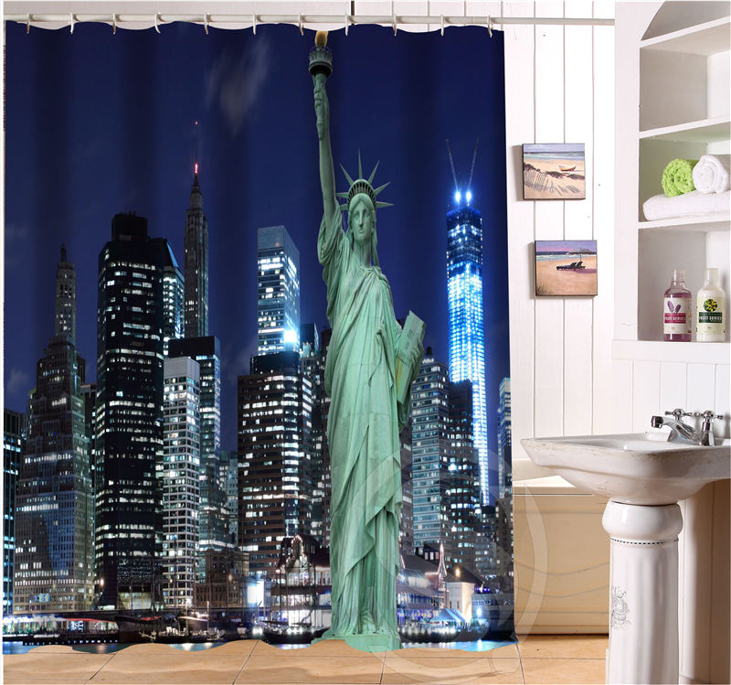 Detail Feedback Questions About New York City Retro Cartoon Custom Shower Curtain Fabric Bath Waterproof MORE SIZE FREE SHIPPING SQ0423 LQN805 On