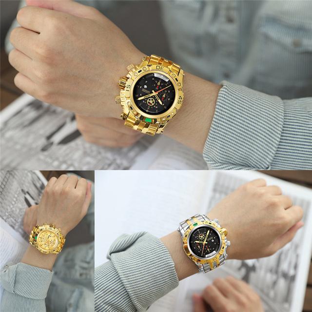 Men's Multicolor Waterproof Alloy Watches