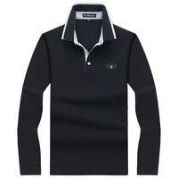 Men Polo Shirt Mens Long Sleeve Solid Polo Shirts Camisa Polos Masculina 2017 Casual Cotton Plus