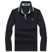 Для мужчин Поло рубашка Для мужчин с длинным рукавом одноцветное Футболки-поло Camisa Поло S masculina 2017 Повседневное хлопок Большие размеры S-10XL Футболки
