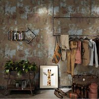 PVC Wallpaper 3D Retro Mottled Clothes Shop Barber Shop Bar Cafe Cement Wall Paper Rolls For Walls 3 D Waterproof Wall Coverings