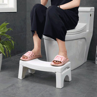 Squatty Bathroom Thicken Folding Portable Stools Toilet Chair Stool Step Footstool Piles Relief Aid Safety Folding Stool