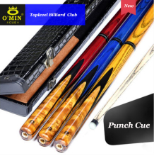OMIN Punch&Jump Cue Sticks 13.8mm Tips North American maple 5A+ Wood Billiard Jump Punch Stick