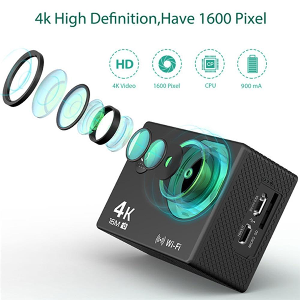 Caméra d'action originale BAPASCO AT30 Ultra HD 4 K télécommande sans fil caméra vidéo sport étanche caméra professionnelle