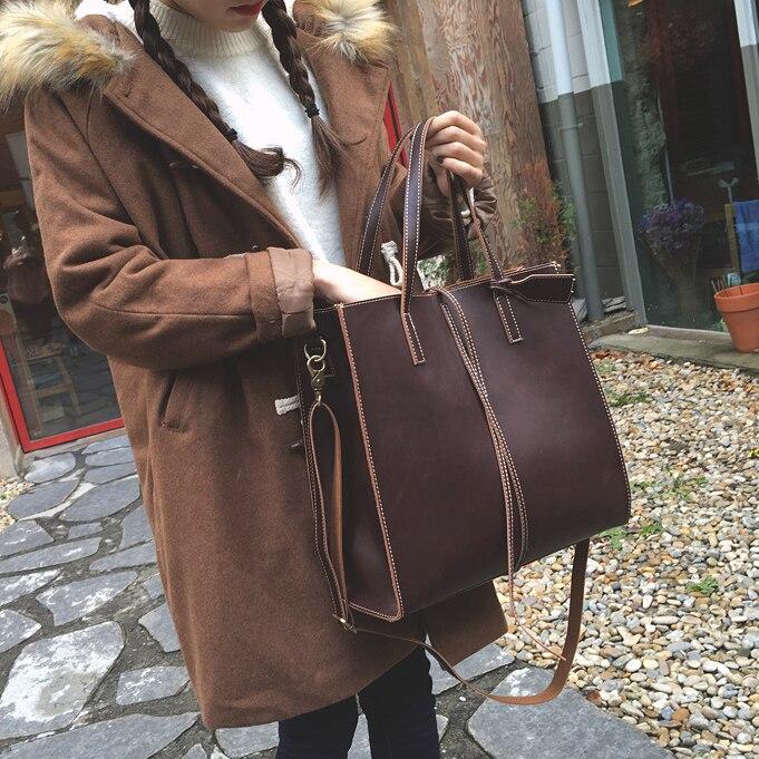 New women s big bag brief fashion girl s tote handbag vintage shoulder casual messenger bag