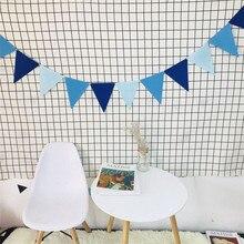 Тканевый Вымпел 12 шт.-флаги 2,5 м Баннер Вымпел Беби Шауэр детский флаг разных цветов Свадьба День Рождения украшения комнаты