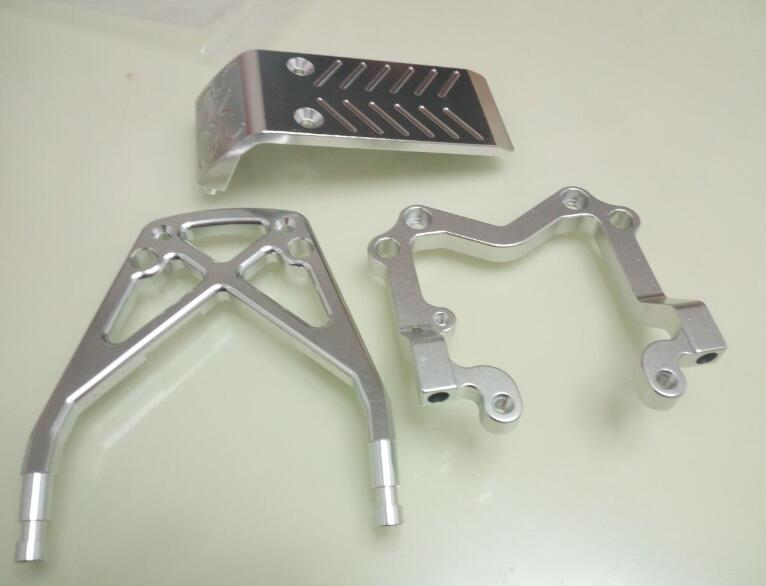 Baja Front and Rear CNC Bumper set for HPI KM Rovan free shipping free shipping cnc gear box set for baja 85128