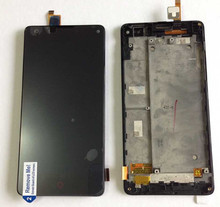 LCD screen display+touch digitizer with frame For ZTE Nubia Z5S mini NX403A NX404H black free shipping