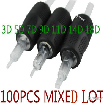 100PCS/LOT Special Supply TATTOO DISPOSABLE GRIP SILICONE RUBBER TIP TUBE BEST GRIPS DIAMOND TUBE 100PCS MIXZED LOT