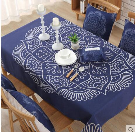 Cotton Linen Colorful Vintage Tablecloth Ethnic Style Table Cloth  Rectangular Coffee Table Cloth Table Cover Home