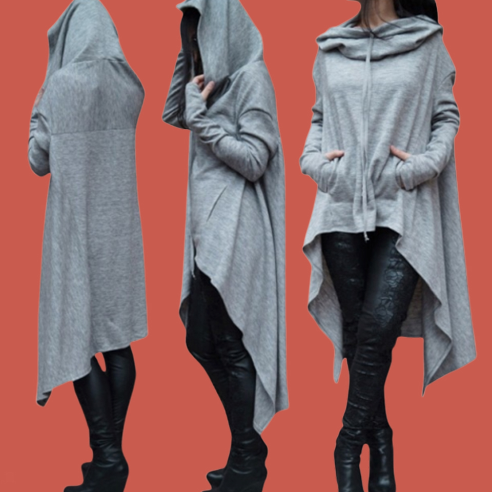 Irregular Hoodie Plain Hooded Sweatshirt Dress Short In Front Long Back Poleron Mujer 2019 5xl Plus Size Oversized Hoodie Women