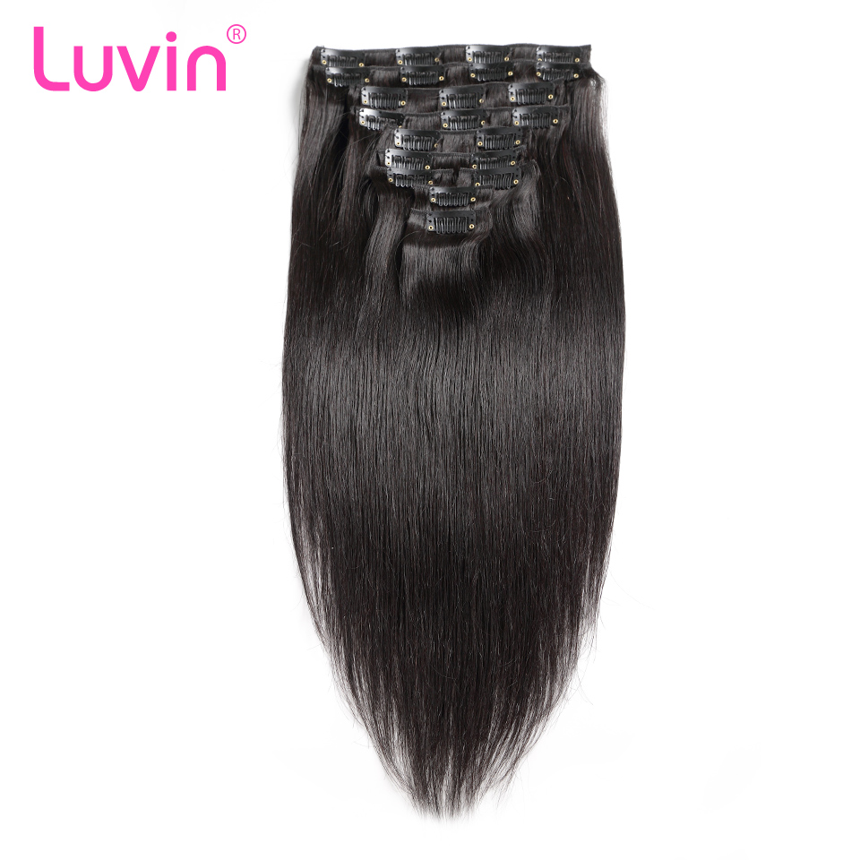 Luvin Clip In Human Hair Extensions Natural Color 10