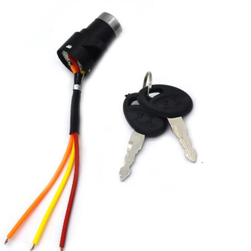 Universal Motorcycle Motorbike Electric Bicycle Ignition On/off Key Switch Power Battery Lock For Electric Bike Electric Scooter