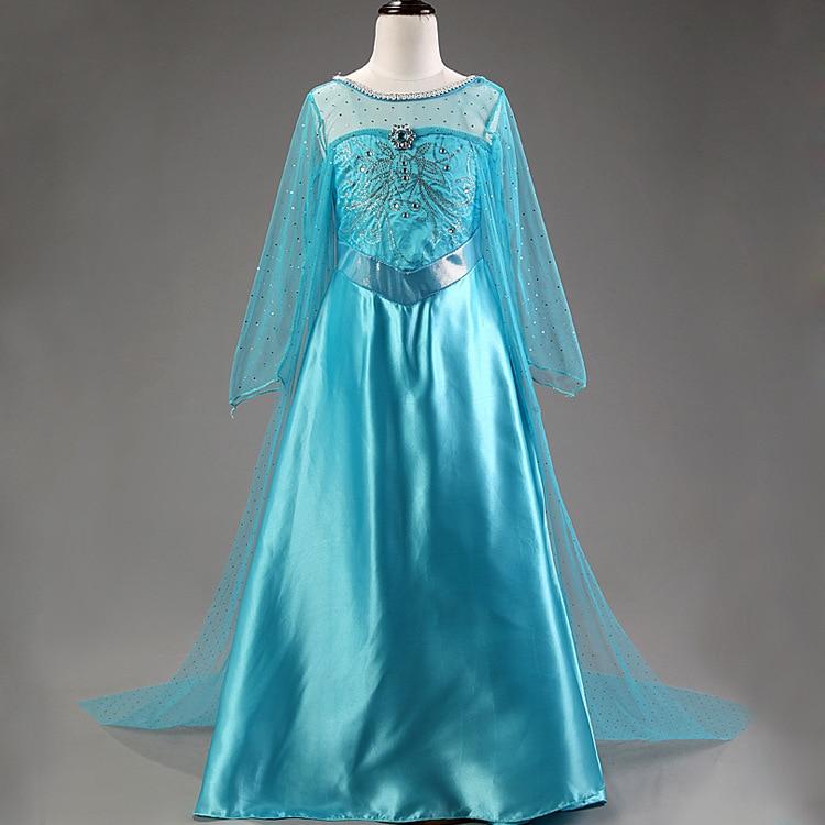 2016 yay Elsa Dress Baby Qızlar Partiyası geyimləri Uşaqlar - Uşaq geyimləri - Fotoqrafiya 4