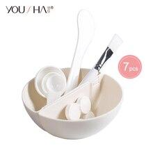 YOUSHA 7pcs Mask Bowl Face Beauty Cosmetic Bowl Makeup Tool