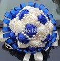 Высокое качество ручной корейский стиль свадебный букет мозаика жемчуг кристалл лента полноценно свадебный с цветами в руках SH21
