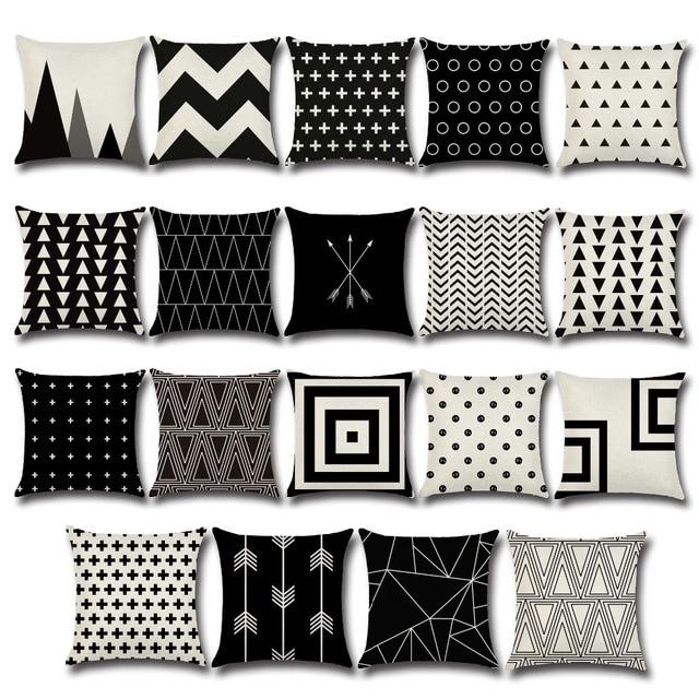 Genial Nordic Schwarz Weiß Beige Startseite Dekorative Kissenbezug Europäischen  Geometrien Pfeile Dreieck Design Baumwolle Leinen Sofa Dekokissen
