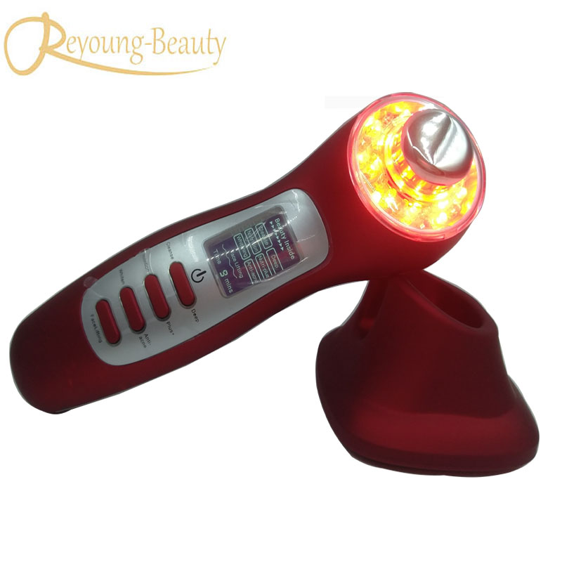 все цены на 7 in 1 ultrasonic ion anti-aging wrinkle acne spot removal led light therapy photon rejuvenation skin care facial massager онлайн